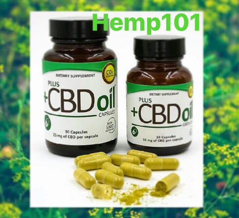 PlusCBDOil : Hemp Oil Capsules 60ct. [ 900mg CBD ] - Hemp101