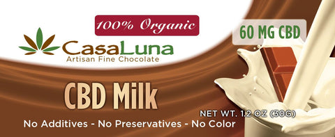 CasaLuna Chocolate bar- (60mg CBD) - Hemp101
