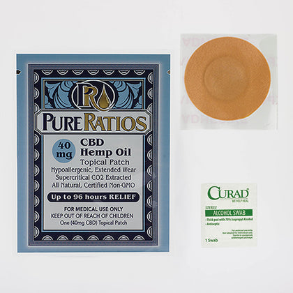 Pure Ratios: Organic Hemp CBD Topical Patch (40mg CBD) Up to 96 Hour Usage - Hemp101