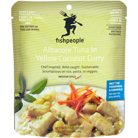 Fishpeople Meal Pouch - Albacore Tuna in Coconut Yellow Curry