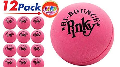 Rubber Pink Bouncing Ball (Pack of 12) and One Small Bouncy Ball Bundle