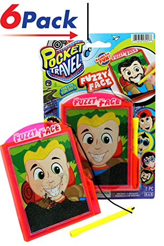 Magnetic Pocket Travel Fuzzy Face Game by Ja-Ru - Pack of 6