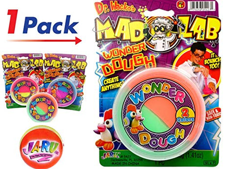Mad Lab Wonder Dough and Bouncy Ball Bundle by Ja-Ru