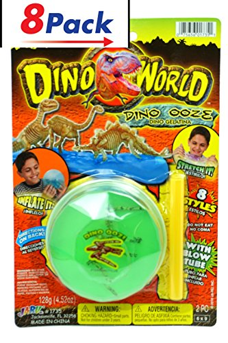 Toy Dino World Soft Slime by JA-RU Pack of 8