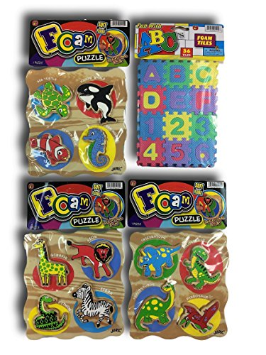 Foam EVA Tiles 3 Sets of Educational Puzzles by Ja-Ru