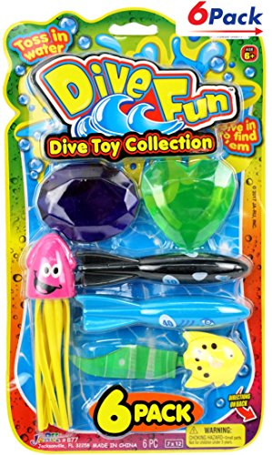 Pool Diving Toys Collection by JA-RU Pack of 6