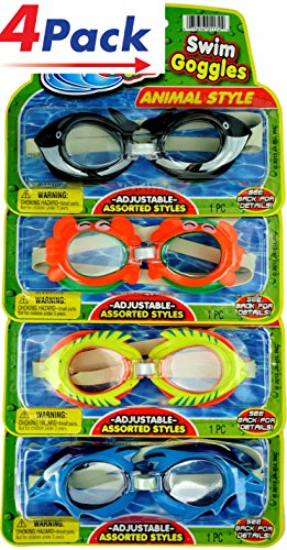 Animals Goggles Swim Dive Bundle - Pack of 4