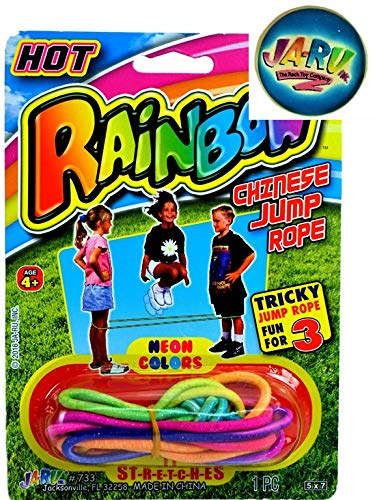 Chinese Jump Rope Colorful Stretch Rope