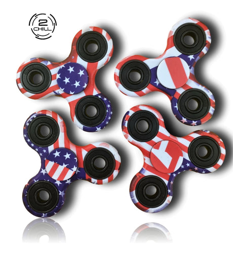 4 Fidget Spinners - 4th of July Pack