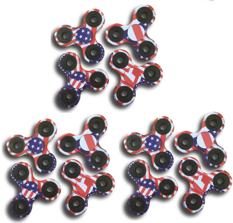 12 Fidget Spinners - 4th of July Pack