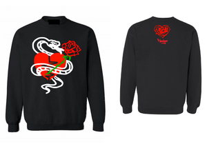 Crew Neck Snakes X Roses