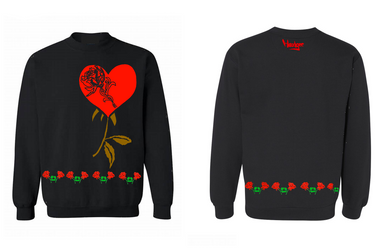Crew Neck Hearts N Roses
