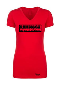 Women's V-neck Rah Digga -This ain't no lil kid rap