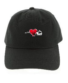 Dad Cap Hearted Rose Embroidered