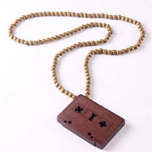 Wooden Cassette Necklaces