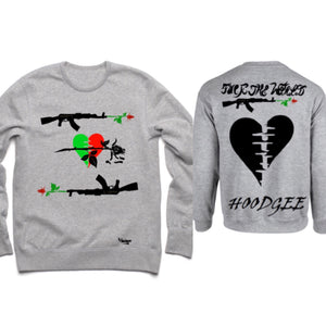 Crew Neck Hearts and Roses