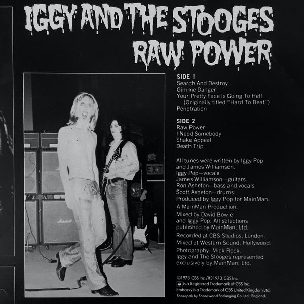 The back cover of Iggy & The Stooges 1973 album Raw Power featured Mick Rock images of Iggy Pop wearing Denson boots for the band's performance at the King's Cross Cinema in July 1972.