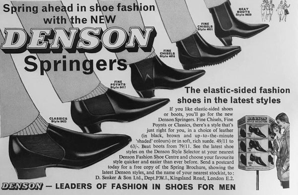 1961 Denson Springers - Cuban heeled Chelsea boots two years ahead of the Beatles!