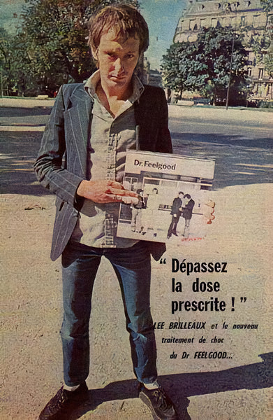 Dr Feelgood frontman Lee Brilleaux wearing Denson creepers in Avignon, 1975