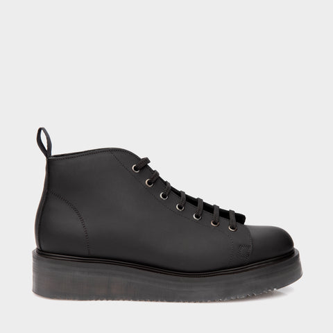 Denson Slab Monkey Boot in Oiled Black