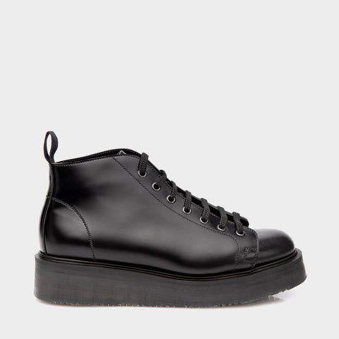 Denson Slab Monkey Boot in Hi-Shine Black
