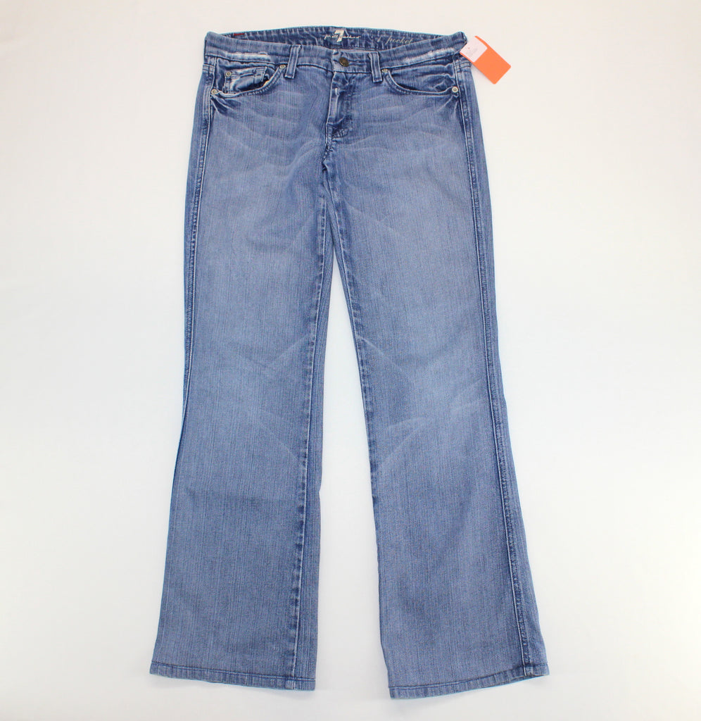 7 for all mankind 'A-Pocket' Blue Destroyed Jeans Size 30 - Around Again Inc