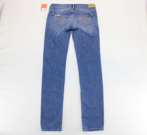Abercrombie & Fitch Blue Destroyed Jeans Size 2R W26 L33 - Around Again Inc
