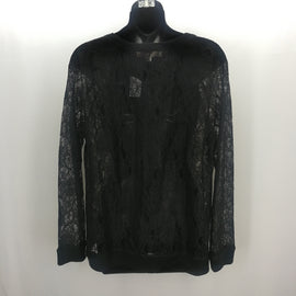 Ann Taylor Loft Black Lace Top Size Large,Tops,Ann Taylor LOFT,Around Again Inc