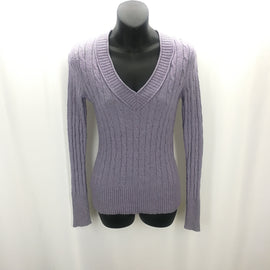 Ann Taylor Loft Wisteria Wool Blend Cable Weave Sweater Size XS,Tops,Ann Taylor LOFT,Around Again Inc