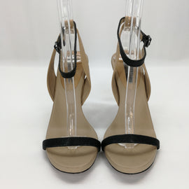 BCBGMAXAZRIA Black & Nude DANYA Sandal Heels Size 7.5,Shoes,BCBGMAXAZRIA,Around Again Inc