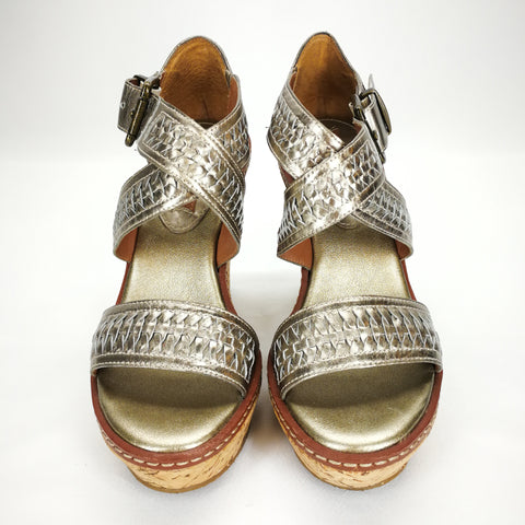 Banana Republic Gold Cork Wedge Sandals Size 5,Shoes,Banana Republic,Around Again Inc