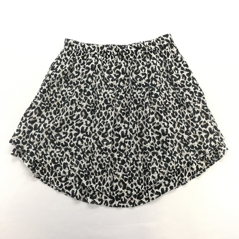 Banana Republic Tan Black Leopard Print Layered Skirt Size Small,Skirts,Banana Republic,Around Again Inc