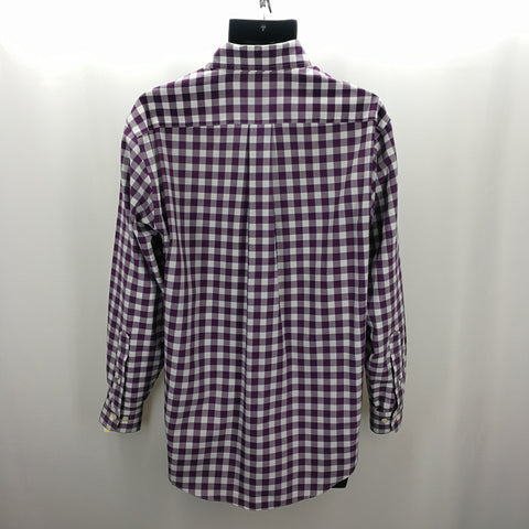 Brooks Brothers 346 Plum White Plaid Original Polo Top Size Small,Tops,Brooks Brothers,Around Again Inc