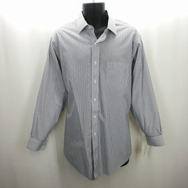 Brooks Brothers Burgundy Blue White Stripes Slim Fit Top Size 16.5 33,Tops,Brooks Brothers,Around Again Inc