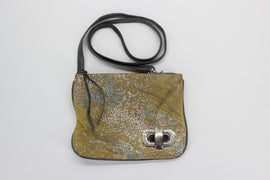 Bryna Nicole Lock it Up Bay Messenger Crossbody Bag in Yellow Stingray,Handbag,Bryna Nicole,Around Again Inc