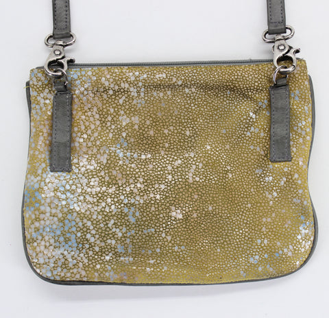 Bryna Nicole Lock it Up Bay Messenger Crossbody Bag in Yellow Stingray - Around Again Inc
