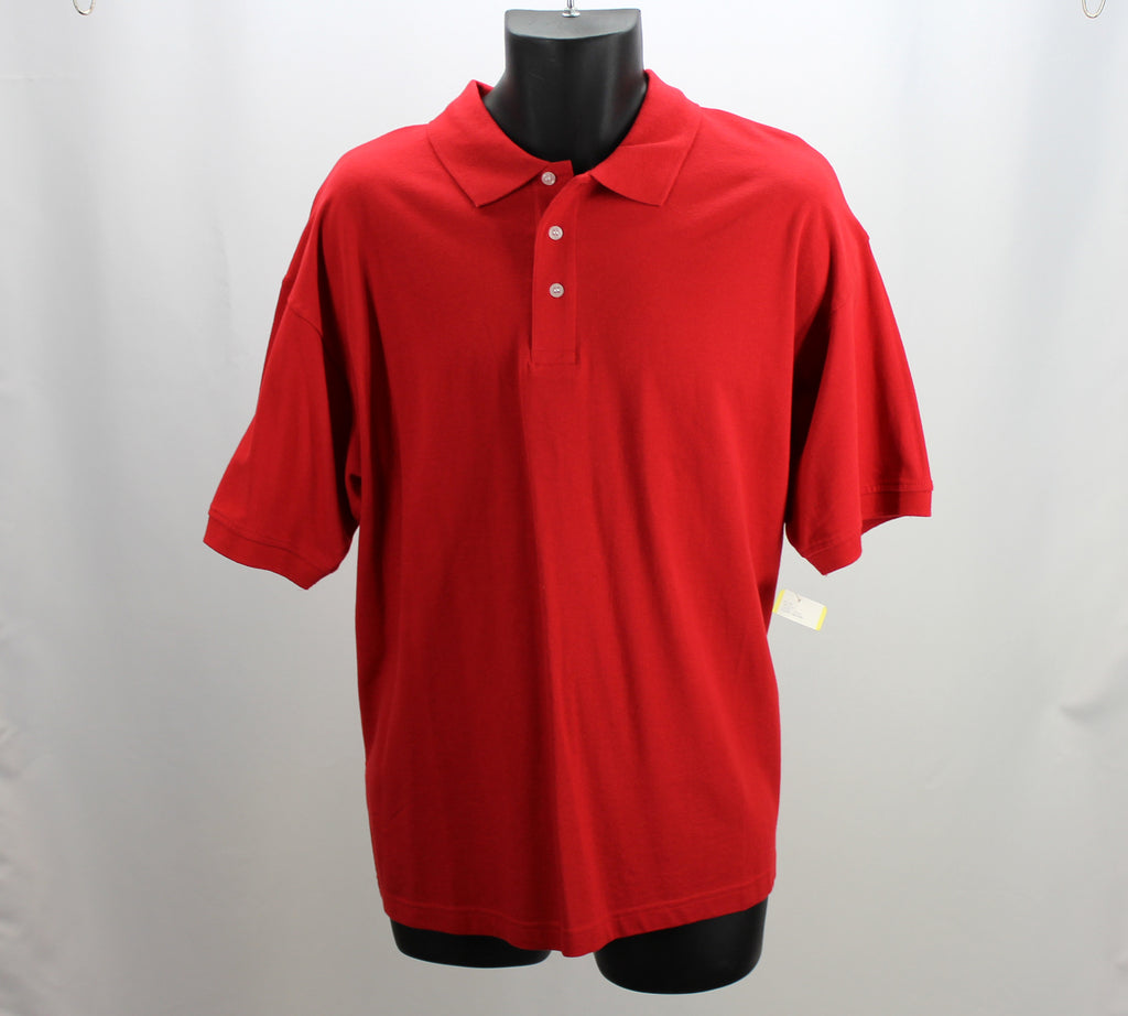 CLIQUE NEW! Red Polo Top Size Large - Around Again Inc