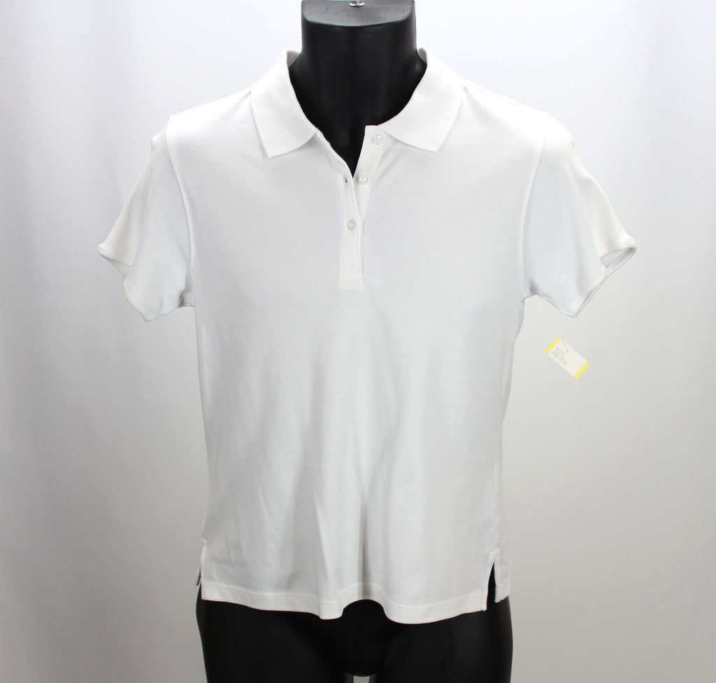 Chestnut Hill NEW! White Polo Top Size Small - Around Again Inc