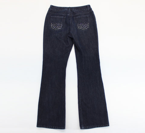 Chico's Platinum Indigo Rhinestone Bootcut Jeans Chico's Size 0 - Around Again Inc