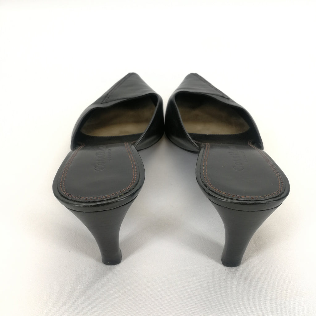 Cole Haan Country Black Leather Kitten Heel Mule Pumps Size 8.5,Shoes,Cole Haan,Around Again Inc