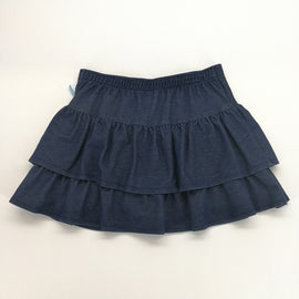 Crazy 8 Indigo Ruffled Layered Skort Size L (10-12),Skirts,Crazy 8,Around Again Inc
