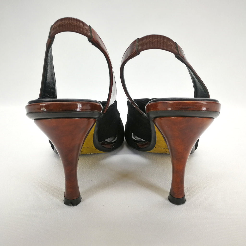 Donald J Pliner JAM-S1 Patent Leather Heels Sandals Size 8 Narrow,Shoes,Donald J Pliner,Around Again Inc
