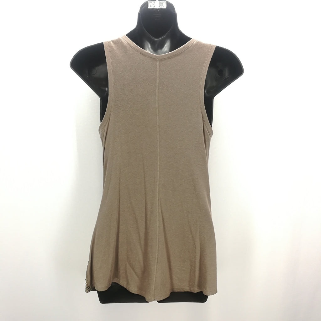 Express Ombre Brown Gold Sequin Tank Top Size Medium,Tops,Express,Around Again Inc