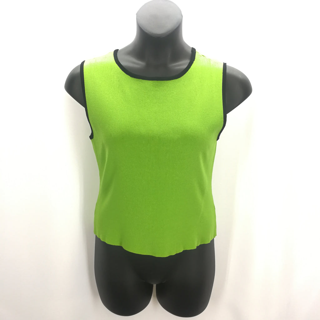 Finity Lime Green Black Tank Sweater Top Size Large,Tops,Finity,Around Again Inc