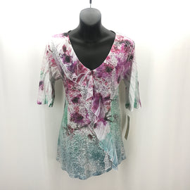 Impulse Purple Pink Green Sequined Top Size Small,Tops,Impulse,Around Again Inc