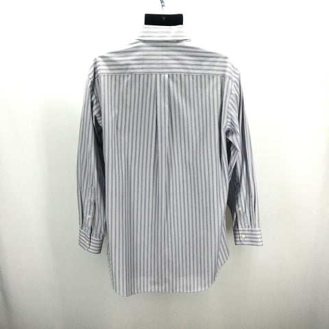 Jos A Bank Traveler's Collection Lavender White Black Stripes Slim Fit Top Size 16.5 32,Tops,Jos A Bank,Around Again Inc