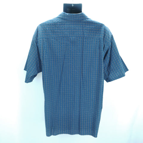 L.L.Bean Navy White Plaid Top Size X-Large Reg,Tops,L.L.Bean,Around Again Inc