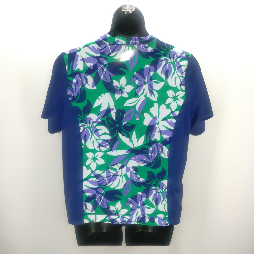 Lands' End Royal Blue Green Lavender Floral Top Size 2X,Tops,Lands' End,Around Again Inc