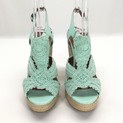Lucky Brand Mint Green RIDGEVIEW Espadrille Wedge Sandals Size 7,Shoes,Lucky Brand,Around Again Inc