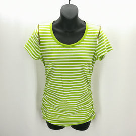 MICHAEL Michael Kors Lime Green White Striped Top Size Medium,Tops,MICHAEL Michael Kors,Around Again Inc